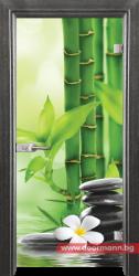 Стъклена врата модел Print 13-9 - Сив кестен