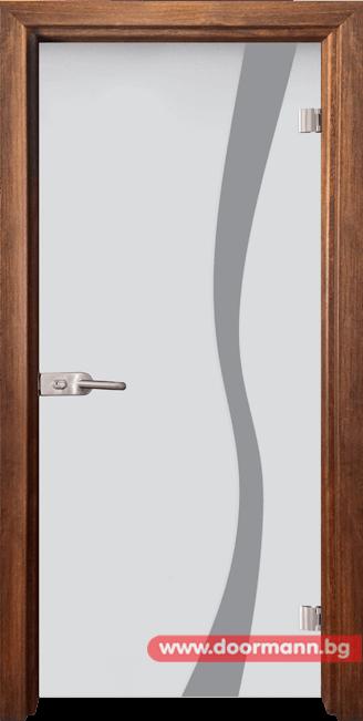 Стъклена врата модел Sand 14-1 - Златен дъб
