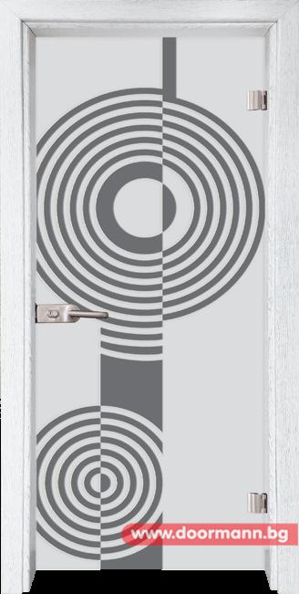 Стъклена врата модел Sand 14-6 - Бреза
